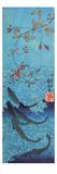 Tiburones Lámina giclée por Kuniyoshi Utagawa