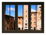 View from the Window at Sun Gimignano, Tuscany Giclee Print by Anna Siena