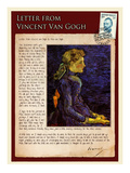 Letter from Vincent: Portrait of Adeline Ravoux Giclee Print by Vincent van Gogh