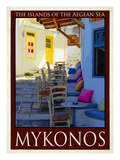 Alleyway in Mykonos Greece 3 Giclee Print by Anna Siena