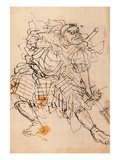 Benkei Holding a Halberd Giclee Print by Kuniyoshi Utagawa