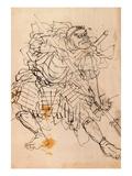 Benkei Holding a Halberd Giclee Print by Kuniyoshi Utagawa
