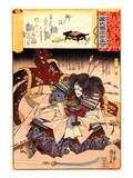 Minori the Mortally Wounded Taira Tomomori with a Huge Anchor Giclee Print by Kuniyoshi Utagawa