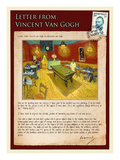 Letter from Vincent: Night Cafe on Place Lamartine in Arles Giclee Print by Vincent van Gogh