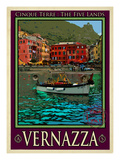 Vernazza Italian Riviera 4 Giclee Print by Anna Siena