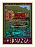 Vernazza Italian Riviera 4 Giclee Print by Anna Siena