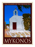 Church in Mykonos Greece 1 Giclee Print by Anna Siena