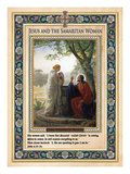 Woman at the Well: Jesus and the Samaritan Woman Giclee Print by Carl Bloch