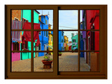 View from the Window at Burano Window, Giclee Print by Anna Siena