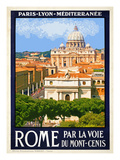 St. Peter's Basilica, Roma Italy 6 Giclee Print by Anna Siena