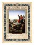 Sermon on the Mount Giclée-tryk af Carl Bloch