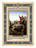 Sermon on the Mount Giclee Print by Carl Bloch