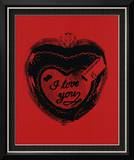 Heart, c.1984 (I Love You) Framed Giclee Print by Andy Warhol