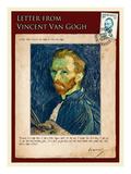 Letter from Vincent: Salf-Portrait1 Giclée-tryk af Vincent van Gogh