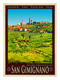 San Gimignano Tuscany 8 Giclee Print by Anna Siena