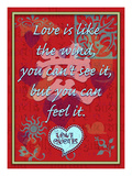 Love Is Like the Wind Giclee Print by Cathy Cute