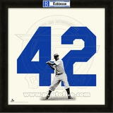 Jackie Robinson, Dodgers representation of the player's jersey Framed Memorabilia