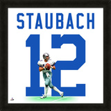 Roger Staubach, Cowboys photographic representation of the player's jersey Framed Memorabilia