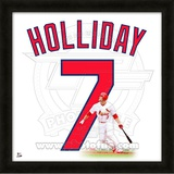 Matt Holliday, Cardinals representation of the player's jersey Framed Memorabilia