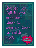 Before You Fall in Love Giclee Print by Cathy Cute