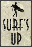 Surf&#39;s Up Distressed Sign Poster Prints