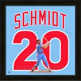 Mike Schmidt, Phillies representation of the player&#39;s jersey Framed Memorabilia