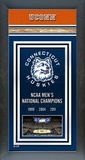University of Connecticut Huskies Men's Basketball National Champions Framed Championship Banner Framed Memorabilia