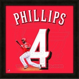 Brandon Phillips, Reds representation of the player's jersey Framed Memorabilia