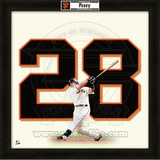 Buster Posey, Giants representation of the player's jersey Framed Memorabilia