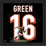 A.J. Green, Bengals photographic representation of the player&#39;s jersey Framed Memorabilia