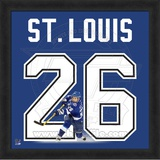 Martin St. Louis, Lightning representation of the player's jersey Framed Memorabilia