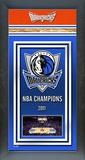 Dallas Mavericks Framed Championship Banner Framed Memorabilia