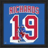 Brad Richards, Rangers representation of the player's jersey Framed Memorabilia