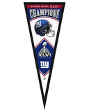 New York Giants XLVI Championship Pennant Framed Memorabilia