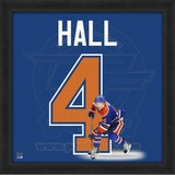 Taylor Hall, Oilers representation of the player's jersey Framed Memorabilia