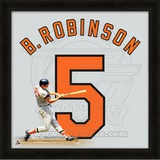 Brooks Robinson, Orioles representation of the player&#39;s jersey Framed Memorabilia