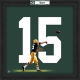 Bart Starr, Packers photographic representation of the player's jersey Framed Memorabilia