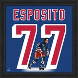 Phil Esposito, Rangers representation of the player's jersey Framed Memorabilia