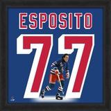 Phil Esposito, Rangers representation of the player's jersey Framed Memorabilia