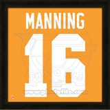 Peyton Manning, University of Tennessee representation of the player's jersey Framed Memorabilia