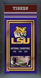 Louisiana State University Framed Championship Banner Framed Memorabilia