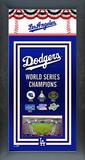 Los Angeles Dodgers Framed Championship Banner Framed Memorabilia