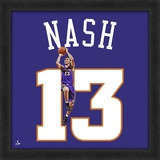 Steve Nash, Suns photographic representation of the player's jersey Framed Memorabilia