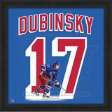 Brandon Dubinsky, Rangers photographic representation of the player's jersey Framed Memorabilia