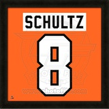 Dave Schultz, Flyers photographic representation of the player's jersey Framed Memorabilia