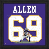 Jared Allen, Vikings photographic representation of the player's jersey Framed Memorabilia