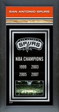 San Antonio Spurs Framed Championship Banner Framed Memorabilia
