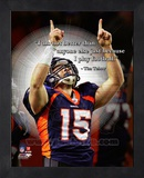 Tim Tebow ProQuote Framed Memorabilia