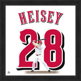Chris Heisy, Reds representation of the player's jersey Framed Memorabilia