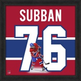 P.K. Subban, Canadiens representation of the player's jersey Framed Memorabilia